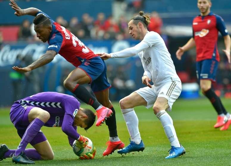 Bale, um fã do Ninja. AFP