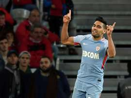 Falcao scored a brace as Monaco beat Lille 4-0. AFP
