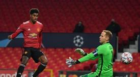 Rashford le da alas al United. EFE