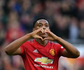 Martial protected by United. AFP