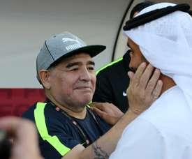 Maradona se queda en el Fujairah. AFP