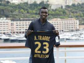 AS Monacos new Malian midfielder Adama Traore, pictured on July 24, 2015, fractured his ankle