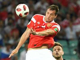 Dzyuba became a fan-favourite during the World Cup. AFP