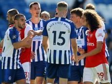 Arteta tells Arsenal players to keep their cool. AFP