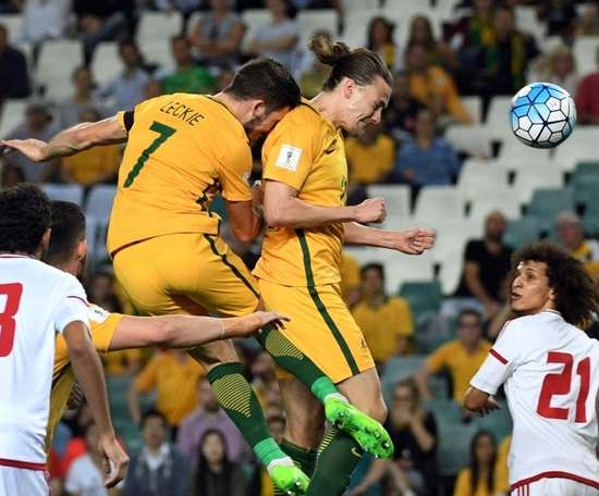 Irvine plays for the 'Socceroos'. AFP