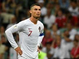 Cristiano no podía faltar en la semifinal ante Suiza. AFP