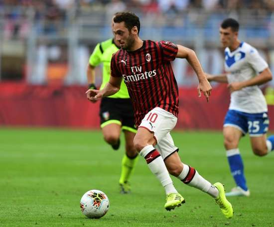 Calhanoglu in Arsenal's plans. AFP
