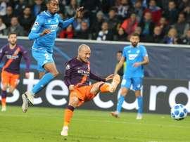 El City sufrió para sumar sus primeros tres puntos. AFP
