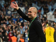 Man City boss Pep Guardiola was full of praise for medical staff during COVID-19 crisis. AFP