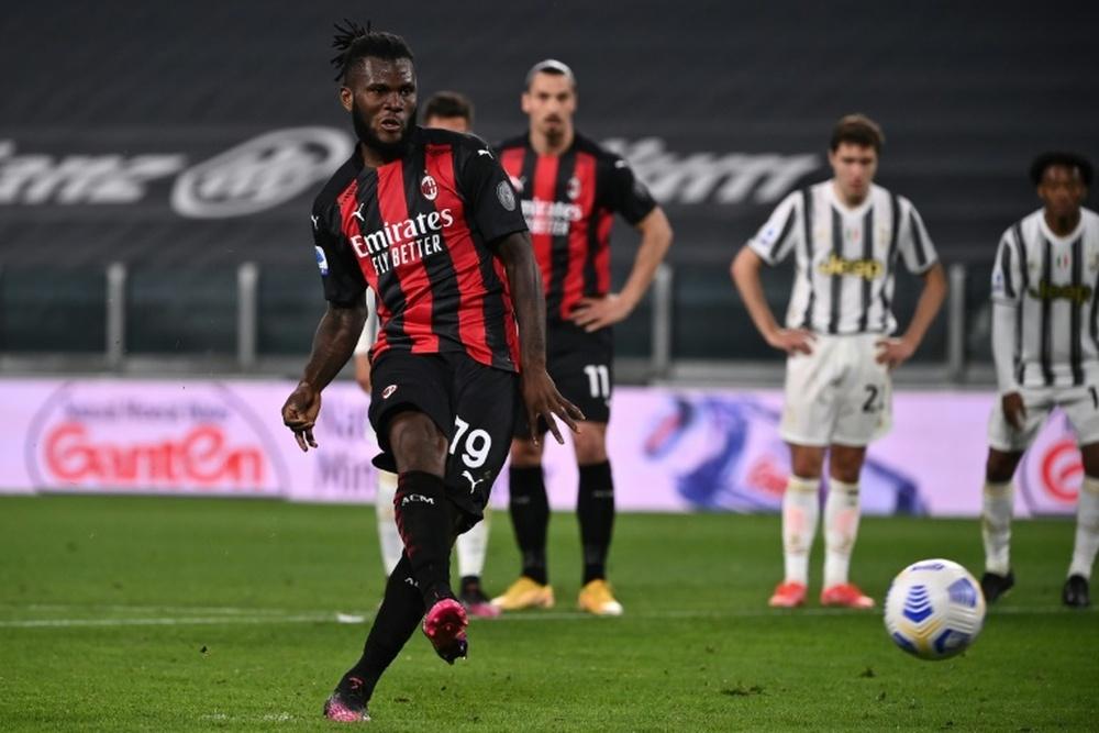 Franck Kessie wants to stay at AC Milan. AFP