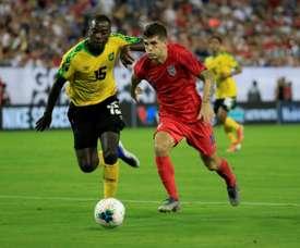 Pulisic scored twice as the USA beat Jamaica 3-1. AFP