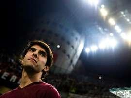 Kaká visitó México y se 'mojó' por el América. AFP