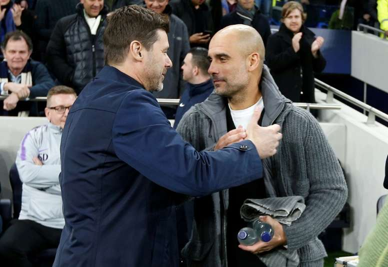 Pochettino, City's chosen replacement if Guardiola were to leave. AFP