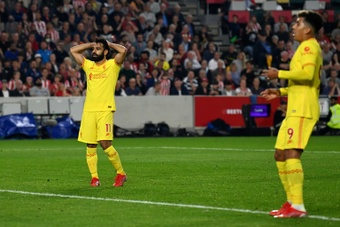 El Brentford empató ante el Liverpool de Klopp. AFP