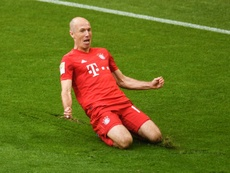 Arjen Robben scored in his final Bayern match. AFP