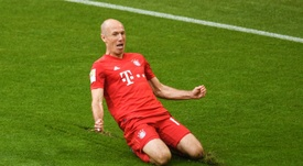 Arjen Robben could be heading to Leicester City this summer. AFP