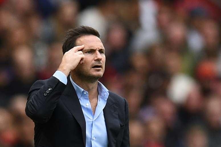 Lampard, frustrado por la derrota y contento con el juego. AFP