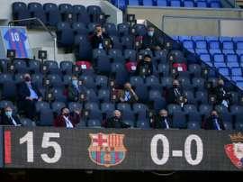 Barcelona and Napoli paid tribute to Diego Maradona. AFP