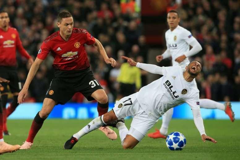 El United no dio detalles de la dolencia. AFP