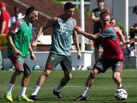 Ribery angrily turns golden steak warrior.