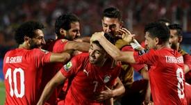 Trezeguet dio la victoria a Egipto. AFP