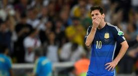 Les rêves de Coupe du monde de Messi éteints. AFP