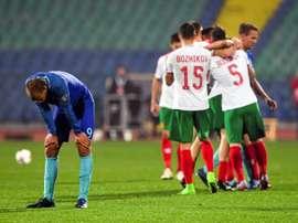 Bas Dost foi impotente perante a organização búlgara. AFP