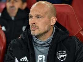 Ljungberg estreia no comando do Arsenal. AFP