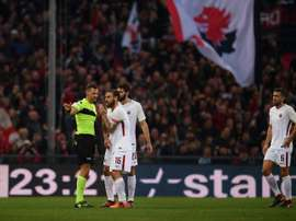 Giacomelli will not referee for two weeks. AFP