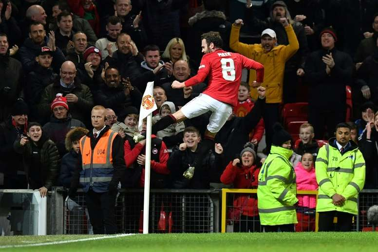 Juan Mata gave Man Utd victory with the only goal of the game v Wolves. AFP
