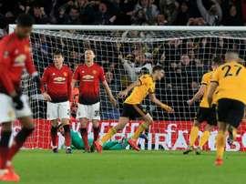 Man.U a perdu deux fois face aux Wolves la saison dernière. AFP