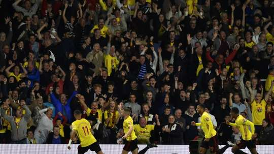 Watford fans are hoping to match Leicester's feat. AFP