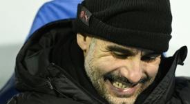 Guardiola está estudiando la posibilidad de renovar con el City. AFP