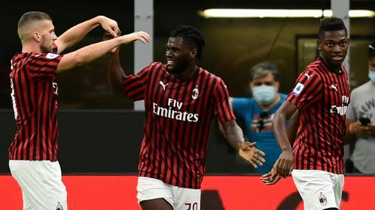 Franck Kessie scored in Milan's 3-1 victory over Parma. AFP