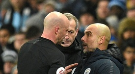 Guardiola has been warned about his behaviour on the touchline. AFP