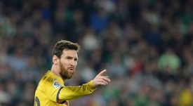 Messi elogió a Simeone. AFP