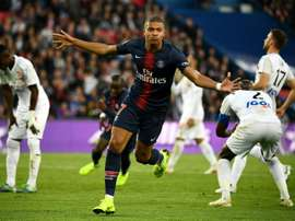 Mbappé notched once again for PSG.  AFP