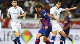 Antoine Griezmann a joué ses premières minutes. AFP