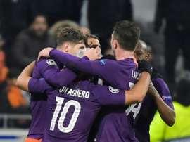 City got a draw. AFP