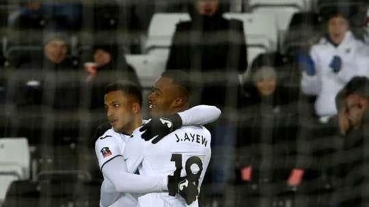 Ayew has refused to return to Swansea training. AFP
