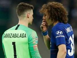David Luiz souhaite continuer à Londres. AFP