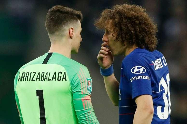 David Luiz quiere continuar en Londres. AFP