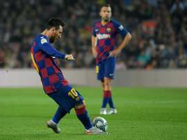 Messi could soon overtake Maradona in free kick goals. EFE