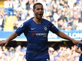 Hazard, autor de un 'hat trick' ante el Cardiff. AFP