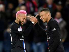 PSG are not thinking of sellling Neymar or Mbappe this summer. AFP