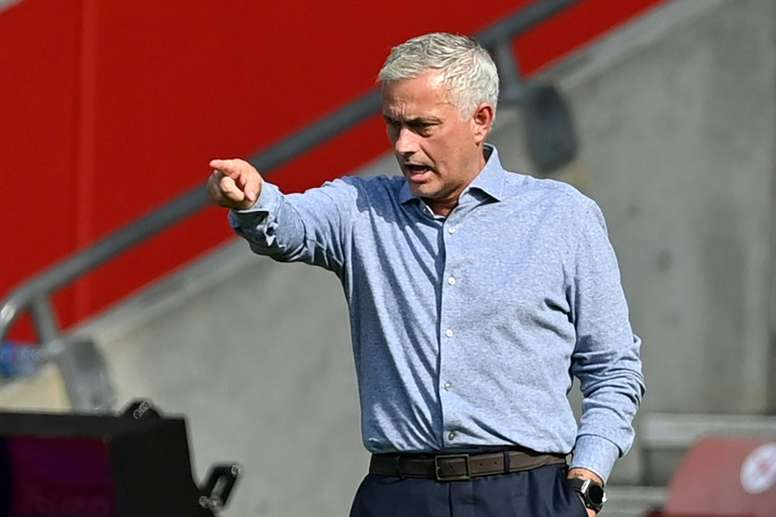 A touching gesture from Mourinho. AFP
