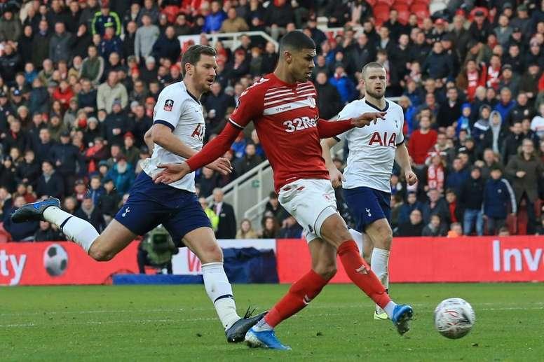 Ashley Fletcher had put Boro ahead versus Spurs. AFP