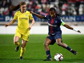 Formiga (r) has renewed her contract at PSG. AFP