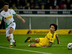 Axel Witsel (R) will miss Dortmund's game with Wolfsburg on Saturday. AFP