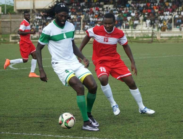 Emmanuel Adebayor in action for Togo. AFP